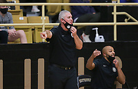 Bentonville head coach Dick Rippee reacts, Saturday, November 14, 2020 during a basketball game at Bentonville High School in Bentonville. Check out nwaonline.com/201115Daily/ for today's photo gallery. <br /> (NWA Democrat-Gazette/Charlie Kaijo)