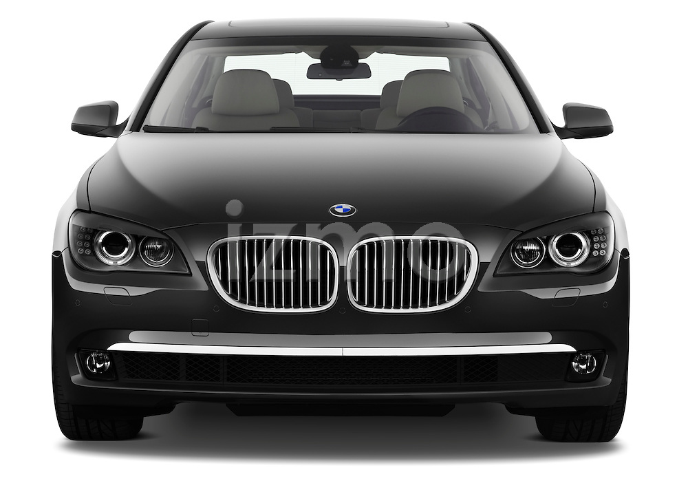 Straight front view of a 2011 BMW 7 Series Active Hybrid