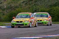 Round 3 of the 2002 British Touring Car Championship. #89 Peter Cate (GBR) & #99 Jim Edwards Jr (GBR). Team B&Q. Honda Accord.
