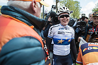 winner Anna van der Breggen (NED/Boels Dolmans) after finishing <br /> <br /> La Flèche Wallonne Feminine 2017 (1.WWT)<br /> One Day Race: Huy › Mur de Huy (120km)