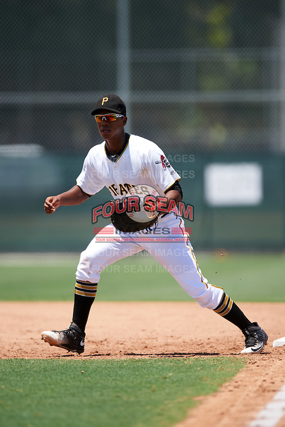 GCL Pirates first baseman Mikell Granberry (31) during a game against the GCL Yankees East on August 15, 2016 at the Pirate City in Bradenton, Florida.  GCL Pirates defeated GCL Yankees East 5-2.  (Mike Janes/Four Seam Images)