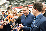 Arnold Schwarzenegger poses for photos while signing autographs during the Arnold Classic Asia 2016 Multi-Sport Festival on 20 August 2016 at the AsiaWorld-Expo, Hong Kong. Photo by Marcio Machado / Power Sport Images