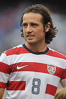 Mix Diskerud (8) of the USMNT during the presenation of the team.  The USMNT defeated El Salvador 5-1 at the quaterfinal game of the Concacaf Gold Cup, M&T Stadium, Sunday July 21 , 2013.
