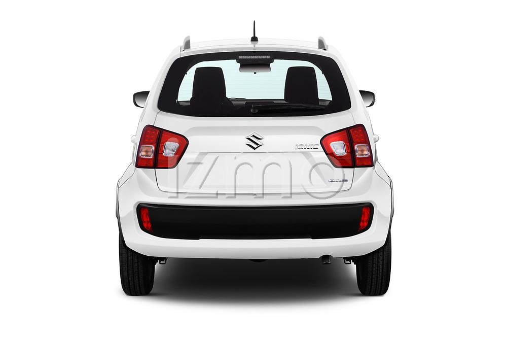 Straight rear view of a 2018 Suzuki Ignis GLX 5 Door Hatchback stock images