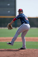 Cleveland Indians starting pitcher Luis Garcia (60) delivers a pitch during an Extended Spring Training game against the Arizona Diamondbacks at the Cleveland Indians Training Complex on May 27, 2018 in Goodyear, Arizona. (Zachary Lucy/Four Seam Images)