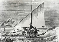 Sailing over the Western Plains, Artist Unknown