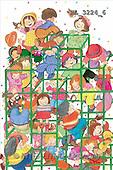 Interlitho, Soledad, CHRISTMAS CHILDREN, naive, paintings, kids world, climbing(KL3224/6,#XK#) Weihnachten, Navidad, illustrations, pinturas