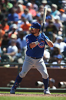 SAN FRANCISCO, CA - JULY 24:  Kyle Schwarber #12 of the Chicago Cubs bats against the San Francisco Giants during the game at Oracle Park on Wednesday, July 24, 2019 in San Francisco, California. (Photo by Brad Mangin)