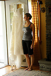 The bride and her gown