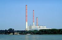- electrothermal power station of Casalmaggiore, on Po river....- centrale elettrotermica di Casalmaggiore, sul fiume Po