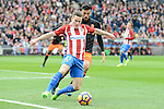 Atletico de Madrid's Kevin Gameiro and Valencia CF's Ezequiel Garay during La Liga match between Atletico de Madrid and Valencia CF at Vicente Calderon Stadium  in Madrid, Spain. March 05, 2017. (ALTERPHOTOS/BorjaB.Hojas)