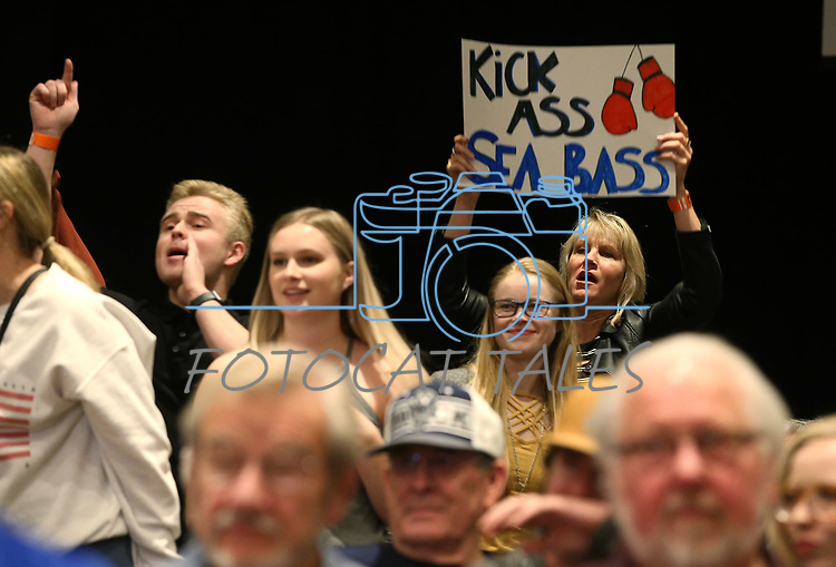 Fans watch National Collegiate Boxing Association action in Reno, Nev. on Friday, Jan. 31, 2020. <br /> Photo by Cathleen Allison