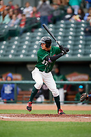 Great Lakes Loons designated hitter Mitchell Hansen (37) at bat during a game against the Burlington Bees on May 4, 2017 at Dow Diamond in Midland, Michigan.  Great Lakes defeated Burlington 2-1.  (Mike Janes/Four Seam Images)