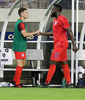 NASHVILLE, TENN - JULY 03: Wil Trapp #6, Jozy Altidore #17 during a 2019 CONCACAF Gold Cup Semifinal match between the United States and Jamaica at Nissan Stadium on July 03, 2019 in Nashville, Tennessee.