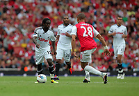 Pictured L-R: Nathan Dyer of Swansea against Kieran Gibbs of Arsenal. Saturday 10 September 2011<br /> Re: Premiership Arsenal v Swansea City FC at the Emirates Stadium, London.