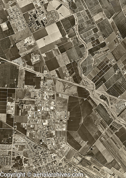 historical aerial photograph Santa Clara, California, 1960