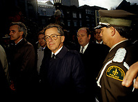 FILE PHOTO -  Gerard D Levesque au funerailles de Rene Levesque a Quebec, le 5 novembre 1987<br /> <br /> PHOTO :   Agence quebec Presse