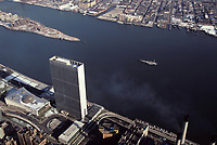 File Photo , New York , (NY) USA<br /> Arerial view of the United Nations Headquarters in New York City<br /> Photo aérienne du Siège des Nations Unies à New York, USA<br /> (c) by Pierre Roussel / IMAGES DISTRIBUTION