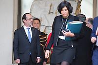 FRANCOIS HOLLANDE APR»S LE CONSEIL DES MINISTRES DU 11 JANVIER 2017 A PARIS.