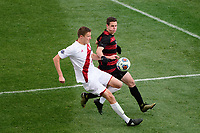 Chester, PA - Sunday December 10, 2017: Grant Lillard, Foster Langsdorf. Stanford University defeated Indiana University 1-0 in double overtime during the NCAA 2017 Men's College Cup championship match at Talen Energy Stadium.