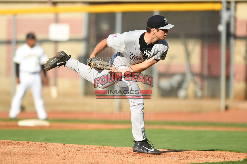 Pulaski Yankees starting pitcher Ken Waldichuk (54) in action against the Bristol Pirates at Boyce Cox Field on July 8, 2019 in Bristol, Virginia. The Yankees defeated the Pirates 5-0. (Tracy Proffitt/Four Seam Images)