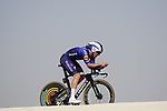 Shane Archbold (NZL) Deceuninck-Quick Step during Stage 2 of the 2021 UAE Tour an individual time trial running 13km around  Al Hudayriyat Island, Abu Dhabi, UAE. 22nd February 2021.  <br /> Picture: Eoin Clarke | Cyclefile<br /> <br /> All photos usage must carry mandatory copyright credit (© Cyclefile | Eoin Clarke)