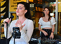CORAL GABLES, FL - MAY 25: Singer AYASH and Director & producer Kristin Robertson performs live at P. Pole Pizza 3rd anniversary on May 25, 2021 in Coral Gables, Florida.  ( Photo by Johnny Louis / jlnphotography.com )
