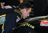 Feb 11, 2009; Daytona Beach, FL, USA; NASCAR Sprint Cup Series driver Ryan Newman during practice for the Daytona 500 at Daytona International Speedway. Mandatory Credit: Mark J. Rebilas-
