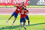 Spain's Saul Niguez, Gerard Pique, Asier Illarramendi and Alvaro Odriozola during training session. October 4,2017.(ALTERPHOTOS/Acero)