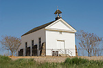 St. Catherine's Catholic Church on the hill overlooking the historic gold rush-era town on Hornitos in California's Mother Lode.