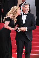 JULIA ROBERTS AND GEORGE CLOONEY - RED CARPET OF THE FILM 'MONEY MONSTER' AT THE 69TH FESTIVAL OF CANNES 2016