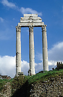 Italy: Rome--Temple of Castor & Pollux.