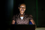 Hilda Moraa, founder of M-Order an online salesa nd ordering platform designed for small businesses in Kenya. She works in Nairobi, Kenya's  at i-Hub, a creative space for technology incubation where fast internet speeds attract like minded professionals working on mobile, computer and sms applications.