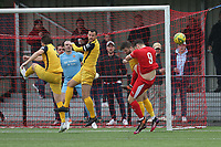 Bradley Sach of Bowers goes close during Bowers & Pitsea vs Hornchurch, Emirates FA Cup Football at The Len Salmon Stadium on 2nd October 2021