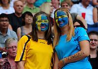Fifa Women's World Cup Germany 2011 : Zweden - France Frankrijk at Sinsheim World Cup stadium : Zweden supporters.foto DAVID CATRY / Vrouwenteam.be