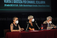 """Genova'01 Twenty Years After, Another World Is Necessary's Conference: """"The Protection Of The Inviolable Rights Of Those Subject To The Restriction Of The Personal Freedom: Truth And Justice For Emanuel Scalabrin"""" [Person who died in Carabinieri's (police) custody in the North of Italy on the 4th December 2020, ndr, 4.] (5.) - Speakers of the event, amongst others, were: the Aunt of Emanuel Scalabrin; Gabriella Branca, lawyer of Scalabrin's Family; Ilaria Cucchi, Sister of Stefano Cucchi, beaten to death while in police custody in Rome in 2009 (6.); Fabio Anselmo, Lawyer of Cucchi's Family.<br /> <br /> Genoa, Italy. 19, 20, 21 July 2021. Twenty years after the dramatic and terrifying events related to the 2001 Genoa's G8 meeting, according to Amnesty International: """"the most serious suspension of democratic rights in a Western country since the Second World War"""" (1.) and as stated on the 2001 """"Report on the situation of fundamental rights in the EU"""" the European Parliament """"deplores the suspensions of fundamental rights that took place during public demos, and in particular at the G8 meeting in Genoa, such as freedom of expression, freedom of movement, the right to physical integrity"""" (2.). As a reminder, the City of Genoa is State Gold Medal (Medaglia D'Oro) for its Antifascist Resistance in World War II.<br /> Some photos, part of this story, are presented appositely in Black & White to show to the audience """"the Places"""" where the majority of - the already mentioned (see above) - """"suspensions of fundamental rights […] such as freedom of expression, freedom of movement, the right to physical integrity"""" (2.) happened.<br /> In these three days, throughout a series of events, Genoa and its People, survivors and witnesses, experts and activists, remembered what happened 20 years ago, discussed...<br /> <br /> FULL CAPTION & LINKS AT THE BEGINNING OF THIS STORY.<br /> <br /> Footnotes, Links:<br /> 3. http://bit.do/fRvdj<br /> 4. http://bit.do/fRvdn<br /> 5. http://bit"""