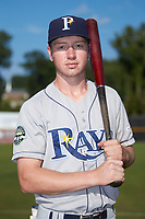 Princeton Rays outfielder Grant Witherspoon (5) poses for a photo prior to the game against the Pulaski Yankees at Calfee Park on July 14, 2018 in Pulaski, Virginia. The Rays defeated the Yankees 13-1.  (Brian Westerholt/Four Seam Images)
