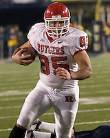 02 December 2006: Rutgers tight end Sam Johnson (85)..The West Virginia Mountaineers defeated the Rutgers Scarlet Knights 41-39 in triple overtime on December 02, 2006 at Mountaineer Field, Morgantown, West Virginia. .
