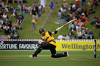 Troy Johnson bats during the men's Dream11 Super Smash cricket match between the Wellington Firebirds and Auckland Aces at Basin Reserve in Wellington, New Zealand on Thursday , 24 December 2020. Photo: Dave Lintott / lintottphoto.co.nz