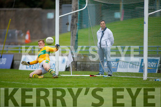 John Mitchels Peter Nammock keeper goes the wrong way as Stacks score from the penalty spot in the Tralee Town Board Senior Football Championship final.