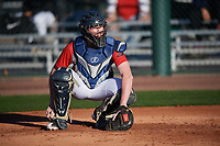 Ben Koomey (15) of Yorktown High School in Arlington, Virginia during the Baseball Factory All-America Pre-Season Tournament, powered by Under Armour, on January 13, 2018 at Sloan Park Complex in Mesa, Arizona.  (Mike Janes/Four Seam Images)