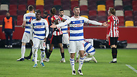 Dominic Ball of QPR appeals for a penalty during Brentford vs Queens Park Rangers, Sky Bet EFL Championship Football at the Brentford Community Stadium on 27th November 2020