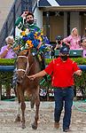March 27, 2021: Known Agenda #5, ridden by jockey Irad Ortiz Jr., wins the Florida Derby (Grade 1), a Kentucky Derby prep race for trainer Todd Pletcher at Gulfstream Park in Hallandale Beach, Florida. Liz Lamont/Eclipse Sportswire/CSM