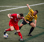 Nottingham Forest Mobsters vs Singapore Cricket Club Tigers during the Day 2 of the HKFC Citibank Soccer Sevens 2014 on May 24, 2014 at the Hong Kong Football Club in Hong Kong, China. Photo by Victor Fraile / Power Sport Images