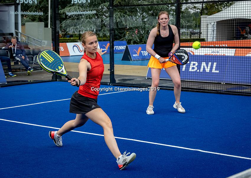 Rosmalen, Netherlands, 15 June, 2019, Tennis, Libema Open, NK Padel, Final Padel womans double: Milou Ettekhoven (NED) and Marcella Koek (NED) (R)<br /> Photo: Henk Koster/tennisimages.com