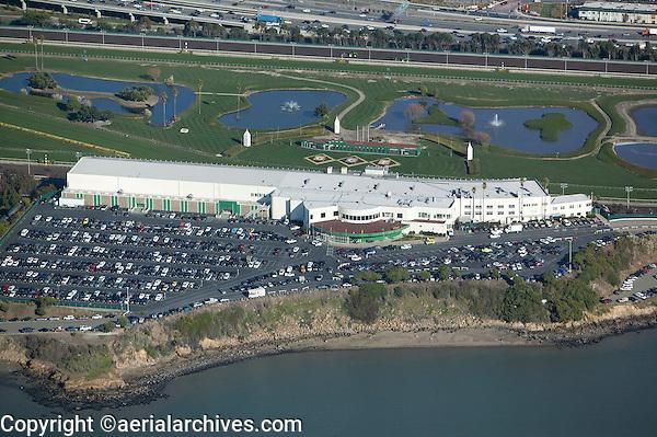 aerial photograph Golden Gate Fields horse racetrack Berkeley, Alameda County, California