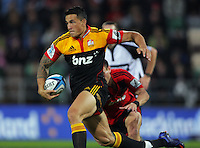 Sonny Bill Williams on the burst during the Super 15 rugby union match between Crusaders v Chiefs at McLean Park, Napier, New Zealand on Friday, 9 March 2012. Photo: Dave Lintott / lintottphoto.co.nz