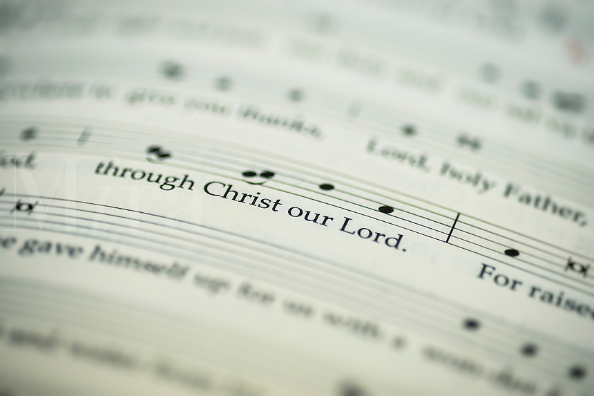 Sacred liturgical text and music.