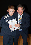 St Johnstone FC Academy Awards Night...06.04.15  Perth Concert Hall<br /> Chairman Steve Brown presents a certificate to Craig Hepburn<br /> Picture by Graeme Hart.<br /> Copyright Perthshire Picture Agency<br /> Tel: 01738 623350  Mobile: 07990 594431