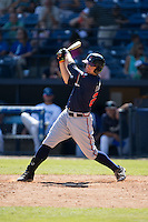 Braxton Davidson (24) of the Rome Braves follows through on his swing against the Asheville Tourists at McCormick Field on July 26, 2015 in Asheville, North Carolina.  The Tourists defeated the Braves 16-4.  (Brian Westerholt/Four Seam Images)